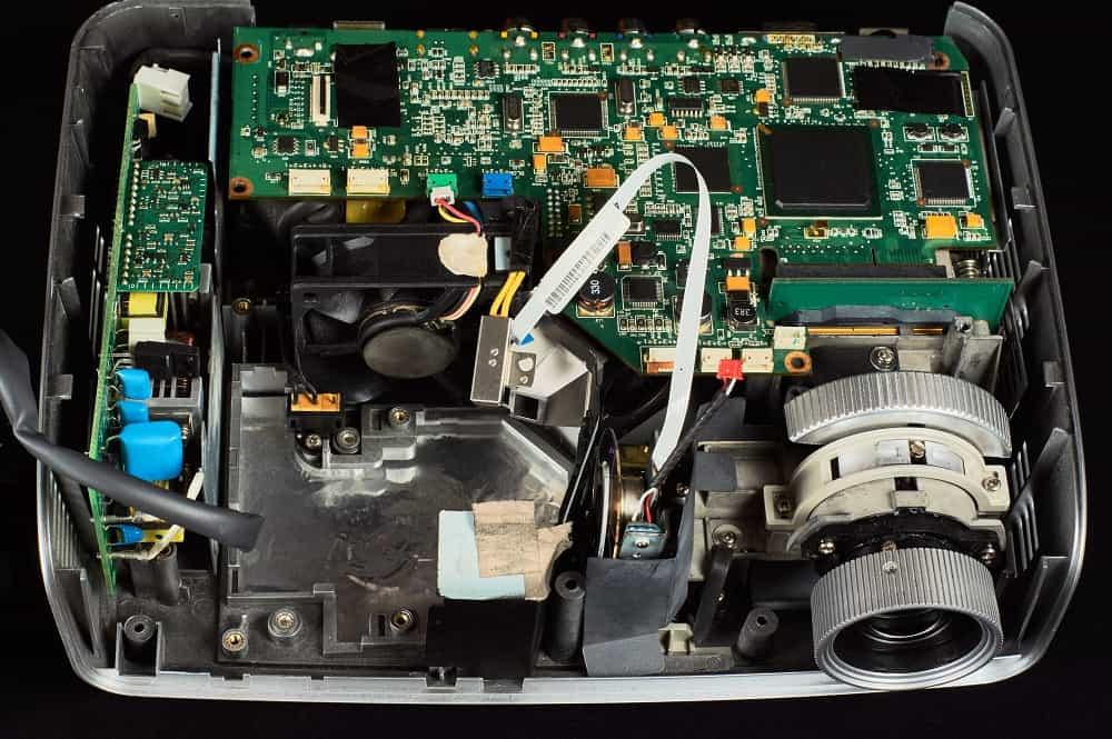 inside dlp projector